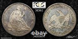 1859 Seated Liberty Half Dollar PCGS MS-61 Semi-PL