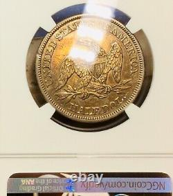 1860 Liberty Seated Half 50c NGC XF-45 Extra Fine Toned Coin