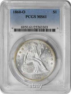 1860-O Liberty Seated Silver Half Dollar MS61 PCGS