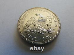 1861 Civil War Seated Liberty Half Dollar 50 Cents Silver Coin Philadelphia 50c