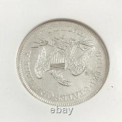 1861 O 50C W-04 Seated Liberty Half Dollar SS Republic Louisiana NGC (B) UNC