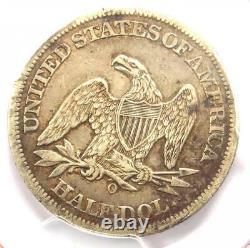 1861-O CSA Obverse Seated Liberty Half Dollar 50C FS-401 WB-102 PCGS VF Detail