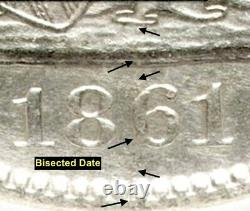 1861-O LIBERTY SEATED SILVER HALF DOLLAR CSA Issue W-13 (WithCOA & CHEST)