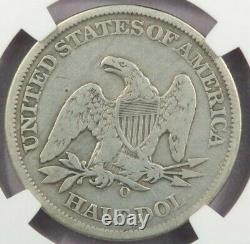 1861-O Liberty Seated Half Dollar CSA Obverse die crack NGC Fine Details