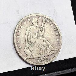 1861-O Liberty Seated Half Dollar VF Details (#35935)
