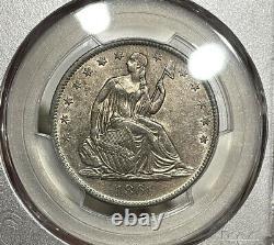 1861-O PCGS AU53 Seated Half Dollar 50C Incredible Luster