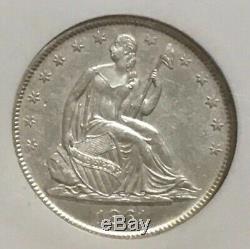 1861-O SS W-04A Republic Shipwreck Effect Silver Seated Liberty Half Dollar -221