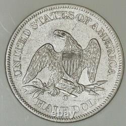 1861-O Seated Liberty Half 50c SS Republic Louisiana Issue NGC 941523-3