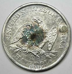 1861-O Seated Liberty Half Dollar 50C XF Detail (Plugged) Civil War Coin