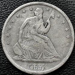 1861 O Seated Liberty Half Dollar CSA Obverse WB-102 Confederate #15259