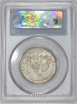 1861-O Seated Liberty Half Dollar PCGS AU-53 Bisected Date WB-103 C. S. A. Issue