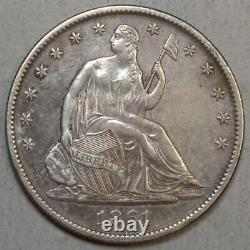 1861-O Seated Liberty Half Dollar, W-14, Speared Olive Bud, Scarce CSA Issue