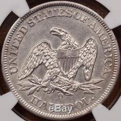 1861-O W-11 Confederate Obv Seated half, NGC AU55, Rare! DavidKahnRareCoins