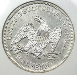 1861-O W-11 Confederate Obv Seated half dollar, NGC AU. Civil War Ship Wreck