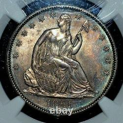 1861-p Seated Liberty Half Dollar Ngc Ms-64 50c Silver Unc L@@k Trusted