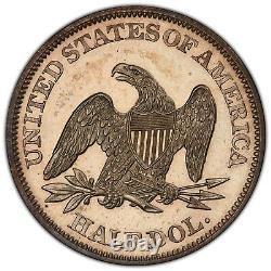 1862 Proof PCGS PR-62 Seated Liberty 50c Tough Civil War Date Looks PR-63
