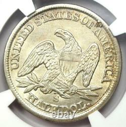 1862-S Seated Liberty Half Dollar 50C Certified NGC AU Details Rare Date
