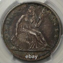 1862-S Seated Liberty Half Dollar PCGS XF-45 Colorful Toning
