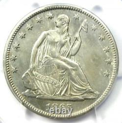 1865-S Seated Liberty Half Dollar 50C Certified PCGS AU Details Rare Date