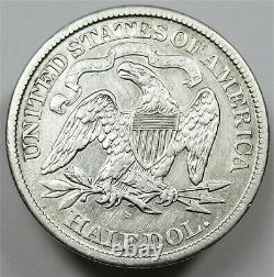 1868-S Silver Seated Liberty 50c Half Dollar US Coin Item #25075
