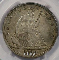 1869-P 1869 Seated Liberty Half Dollar PCGS XF45 CAC