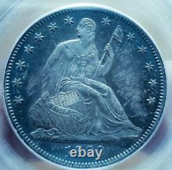 1869 Pf62 Seated Liberty Half Dollar Proof / Rainbow Toning