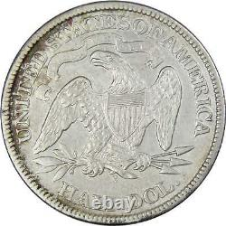 1869 Seated Liberty Half Dollar XF EF Extremely Fine Details 90% Silver 50c Coin