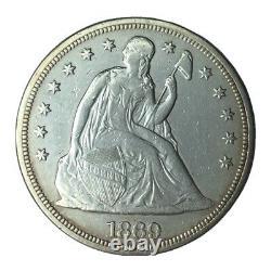 1869 WM $1 Seated Liberty Dollar AU #
