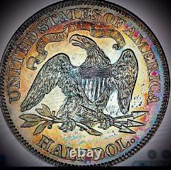 1869 seated liberty half dollar Proof62 Pcgs