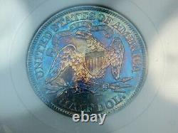 1870 50C Proof Seated Liberty Half Dollar PF-63 NGC/CAC, Fatty Slab, Nice Color