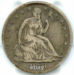 1870-CC Liberty Seated Silver Half Dollar, PCGS F-12, CC Key Date, Pop=16 coins