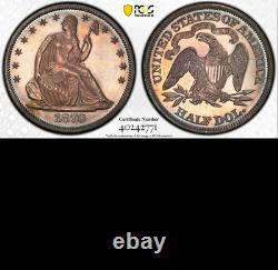 1870 PCGS PR64 Just 25 Finer Incl. Cameos RARE in PROOF Seated Half Dollar 50c