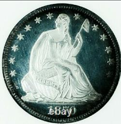 1870 Pr64 Seated Liberty Half Dollar. Hard Date/ Proof With Unbelievable Cameo