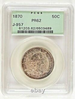 1870 Seated Liberty Half 50c Pattern Silver Half Dollar PCGS PR62