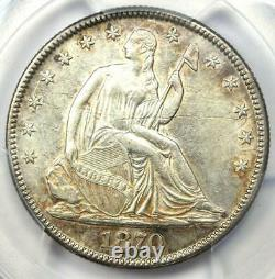1870 Seated Liberty Half Dollar 50C Certified PCGS AU Details Rare Coin