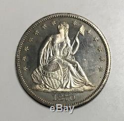 1870 Seated Liberty Half Dollar Proof Unc GEM