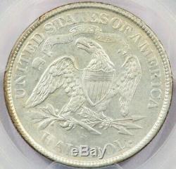 1871-S Seated Liberty Half Dollar PCGS AU50