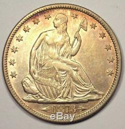 1873 Arrows Seated Liberty Half Dollar 50C Coin Nice Choice AU Rare Coin