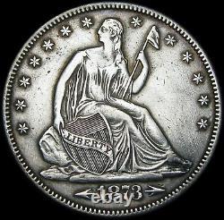 1873 Arrows Seated Liberty Half Dollar Type - STUNNING - #C176