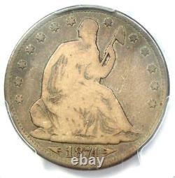 1874-CC Arrows Seated Liberty Half Dollar 50C Coin PCGS VG8 $2,150 Value