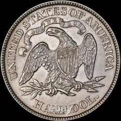 1874-P Seated Half Dollar'Arrows' Nice AU/BU Great Eye Appeal Strong Strike