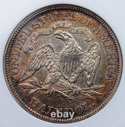 1874 Seated Half Dollar Pcgs Ef 45 Brilliant Centers Excellent Rim Tone