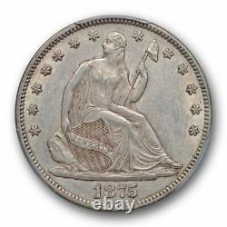 1875 50C Seated Liberty Half Dollar PCGS AU 55 About Uncirculated Original Toned