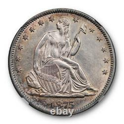 1875 50c Seated Liberty Half Dollar NGC AU 58 About Uncirculated Sharp Strike