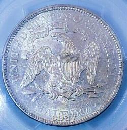 1875 S AU50 50c SEATED LIBERTY HALF DOLLAR RARE RELEASE. 715