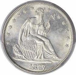1875-S Liberty Seated Silver Half Dollar MS65 PCGS