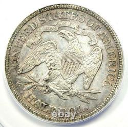 1875 Seated Liberty Half Dollar 50C Certified ANACS AU50 Details Rare Coin