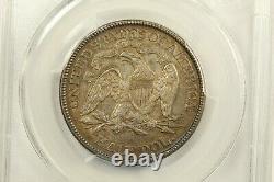 1875 Seated Liberty Half Dollar PCGS AU55