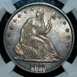 1875-p Seated Liberty Half Dollar Ngc Ms-62 50c Silver Unc L@@k Trusted