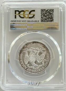 1876 50C Seated Liberty Coin PCGS Genuine Cleaned AU Detail